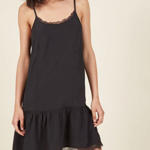 Modcloth Looks in Layers Black Slip Dress